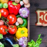 box of fruit and veggies with KCFC logo